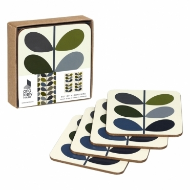 Multi Stem Coasters Khaki Marine - Set of 4