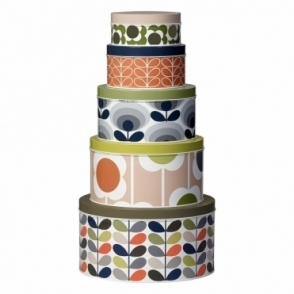 Nesting Cake Tins Assorted Flowers - Set of 5