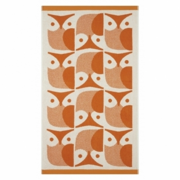 Owl Towels - Papaya