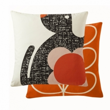 Poppy Dog Cushion - Persimmon