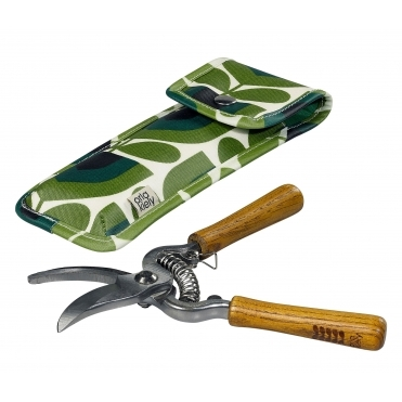 Pruners with Striped Tulip Pine Pouch