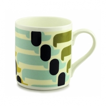 Sausage Dog Olive / Duck Egg Quite Big Mug - Large