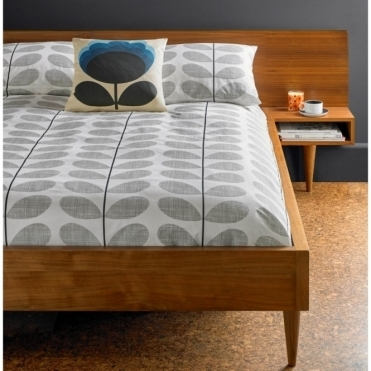 Scribble Stem Concrete Grey Duvet Cover - Double