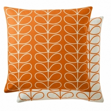 Small Linear Stem 50cm Cushion - Persimmon
