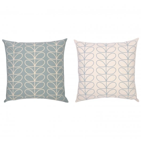 orla kiely linear stem duck egg blue cushion large. Black Bedroom Furniture Sets. Home Design Ideas
