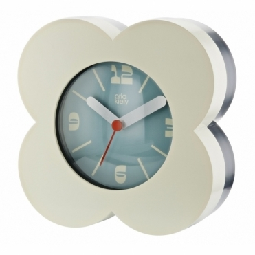 Flower Alarm / Mantel Clock - Cream