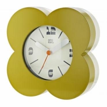Flower Alarm / Mantel Clock - Moss