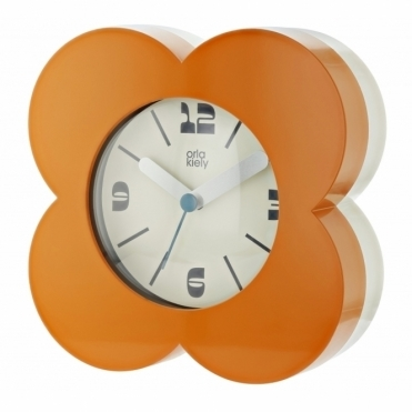 Flower Alarm / Mantel Clock - Orange