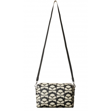 Tiny Spring Bloom Cross Body Bag - Charcoal