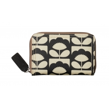 Tiny Spring Bloom Medium Zip Wallet Purse - Charcoal