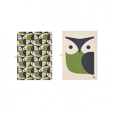 Owl Tea Towels Pair - Set of 2