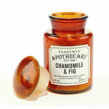 Amber Apothecary Bottle Candle - Chamomile & Fig