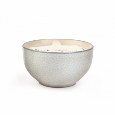 Hand Painted Bowl Scented Candle Small - Sea Salt & Sage