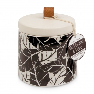 Decorative Ceramic Vessel Candle - Black Coconut & Amber
