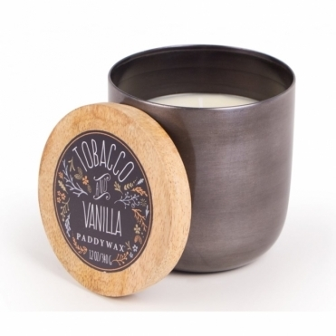 Paddywax Foundry Metallic Gunmetal Bowl Candle - Tobacco & Vanilla
