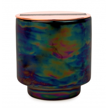 Iridescent Ceramic Scented Candle - Incense & Smoke
