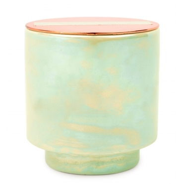 Iridescent Ceramic Scented Candle - White Woods & Mint