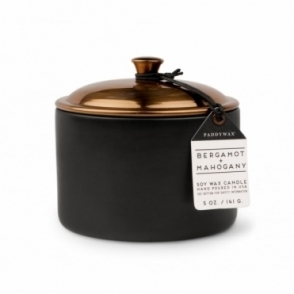 Bergamot & Mahogany 5oz Scented Candle - Ceramic & Copper Lid