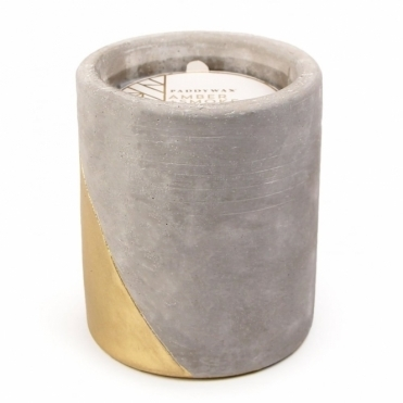 Concrete Scented Candle Large - Amber & Smoke