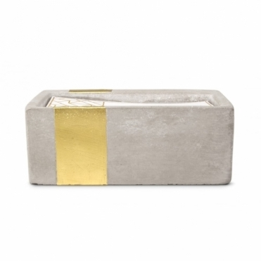 Rectangular Concrete Scented Candle - Amber & Smoke