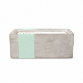 Rectangular Concrete Scented Candle - Sea Salt & Sage