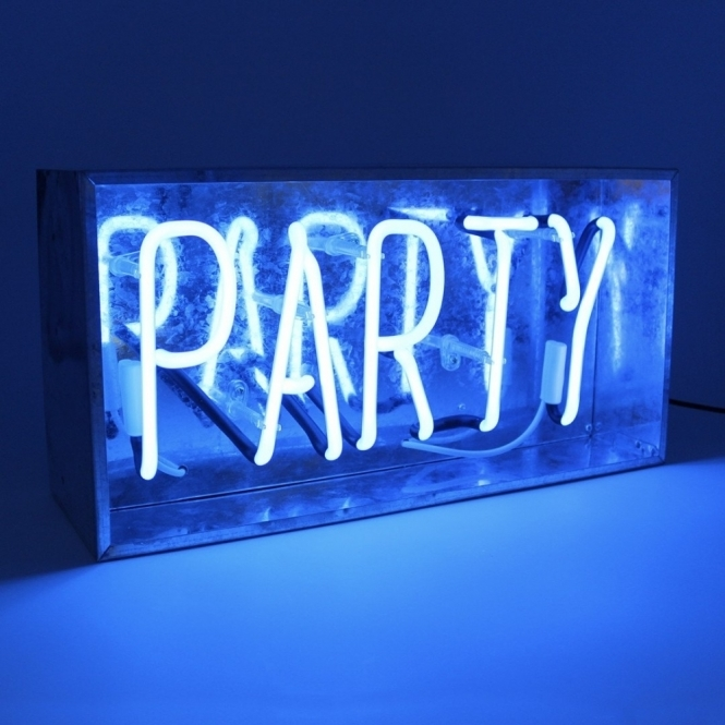 Party Neon Sign - Metal Light Box