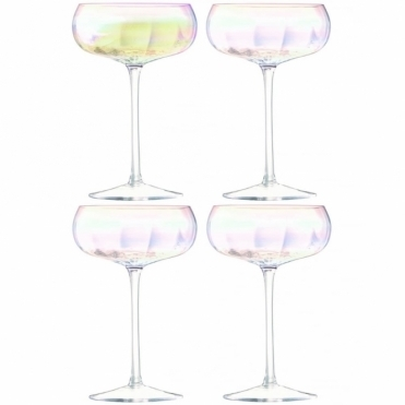 Pearl Champagne Saucers - Set Of 4