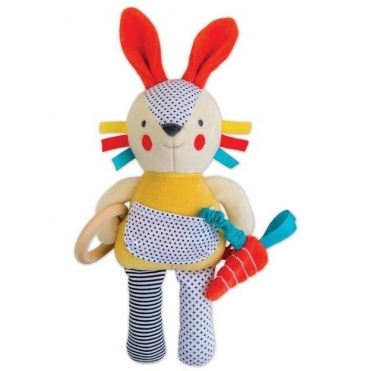 Organic Activity Soft Baby Toy - Busy Bunny