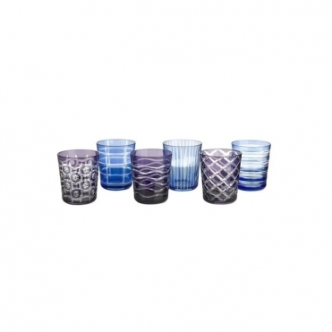 Cobalt Tumbler Set of 6 Glasses