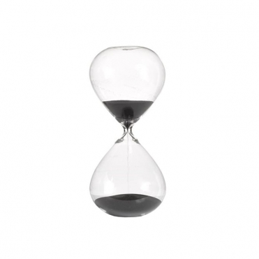 Sandglass Ball Timer Black