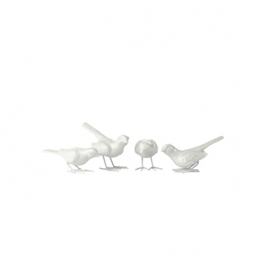 Starlings Set of 4 White Birds