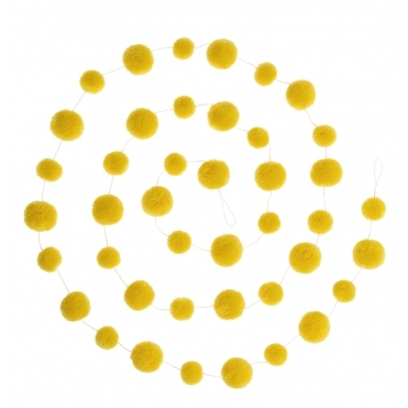 Pom Pom Garland Decoration - Yellow