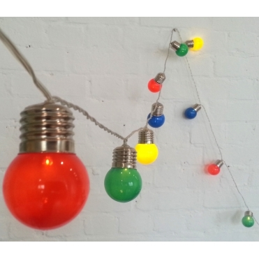 Pop Lights Coloured Garland LED Fairy String Lights - Battery Operated