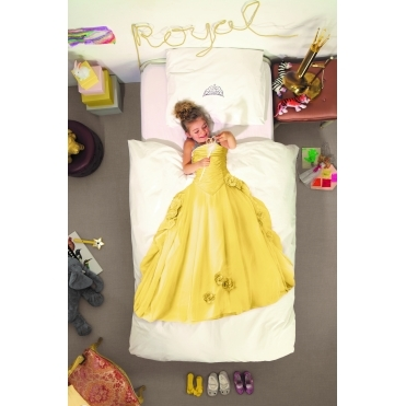 Princess Single Duvet Cover & Pillowcase Set - Yellow