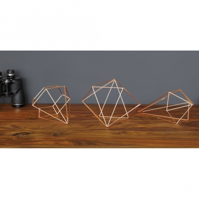 Prisma Copper Wall Decor Art   Set Of 6