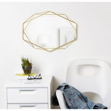 Prisma Wall Mirror - Brass