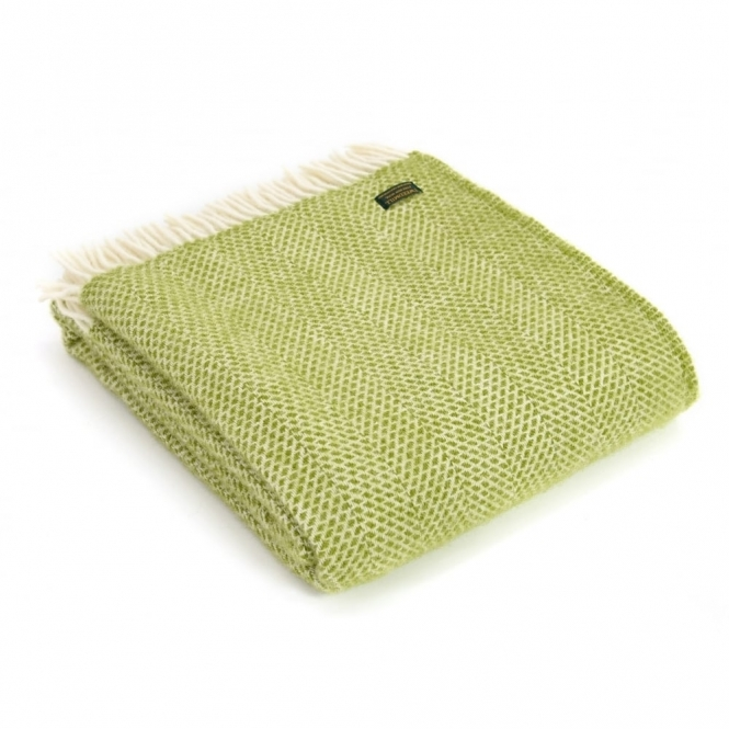 Pure New Wool Beehive Throw Blanket Kiwi