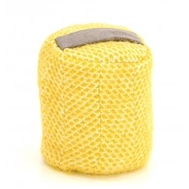 Pure New Wool Door Stop Barrel - Beehive Yellow