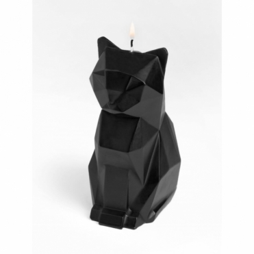 Kisa Cat Candle with Skeleton - Black