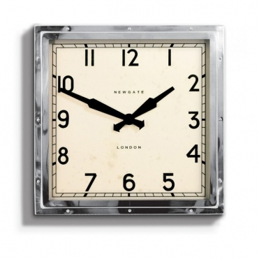 Quad Wall Clock Chrome