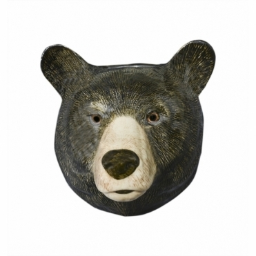 Black Bear Head Wall Vase