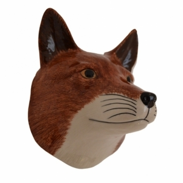Fox Head Wall Vase
