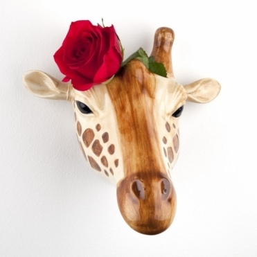 Giraffe Head Wall Vase