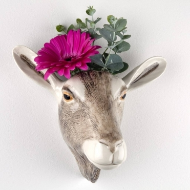 Goat Head Wall Vase