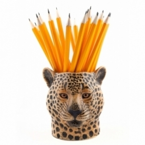 Quail Ceramics Leopard Pencil Pot / Desk Tidy