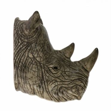 Rhino Head Wall Vase