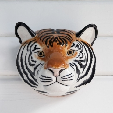 Tiger Head Wall Vase