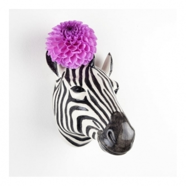 Zebra Head Wall Vase