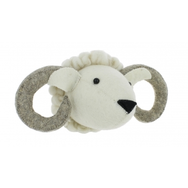 Ram Felt Animal Wall Head - Mini