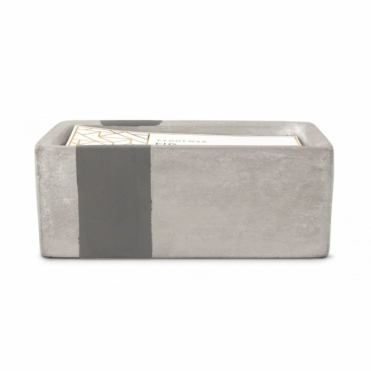 Rectangular Concrete Scented Candle - Fig & Olive